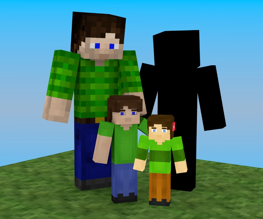 Possible Jordach Minetest family scene