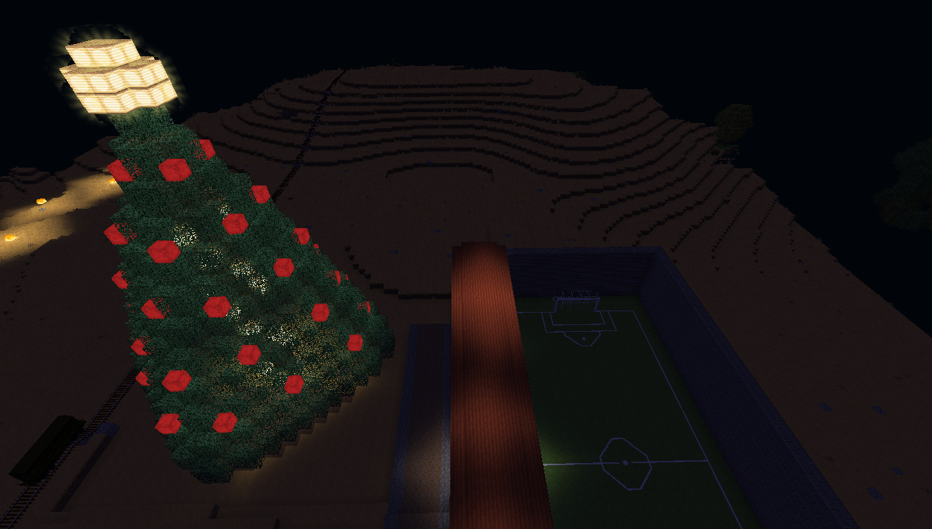 Minetest Farlands Christmas Tree