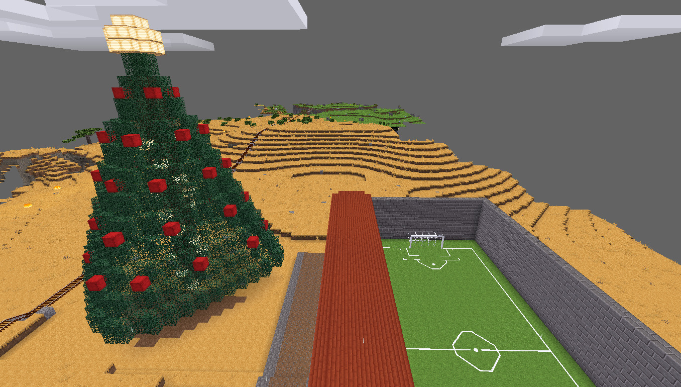 Minetest Farlands Christmas Tree (day)