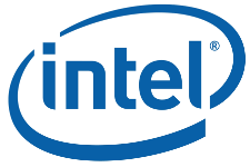 Intel logo with trademark symbol
